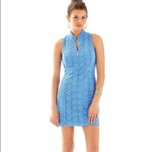 Lilly Pulitzer Alexa Bay Blue Lace Crochet dress